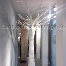 016 Stilisierter Kunstbaum weiß H.270cm , Dm.100x400cm-Seitansicht-1
