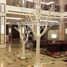 017 Stilisierte Bäume H.250-300cm,Dm.200cm weiß...
